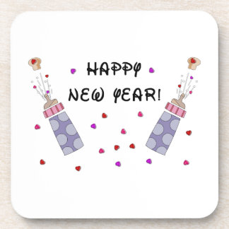 Happy New Year Baby Drink Coaster