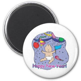 Happy New Year Baby 2 Inch Round Magnet