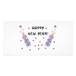 Happy New Year Baby Photo Card