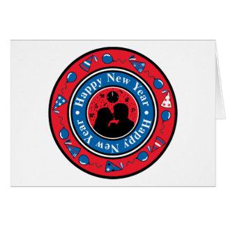Happy New Year Badge Card