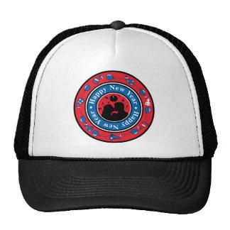 Happy New Year Badge Trucker Hat