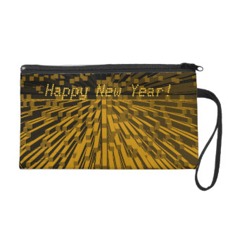 Happy New Year Bagettes Wristlet Bag