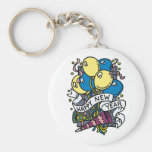 Happy New Year Balloons Tees and Gifts Keychain