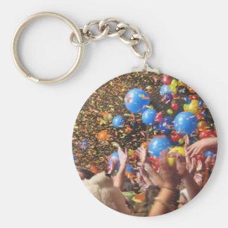 Happy New Year! Basic Round Button Keychain