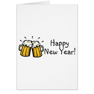 Happy New Year Beer Greeting Card