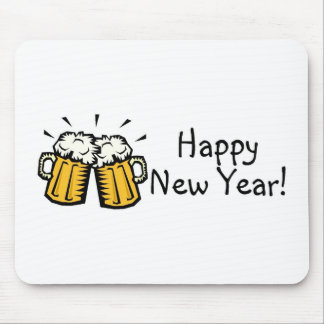 Happy New Year Beer Mouse Pad