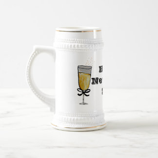 Happy New Year Beer Stein