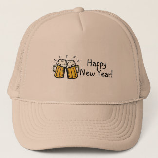 Happy New Year Beer Trucker Hat