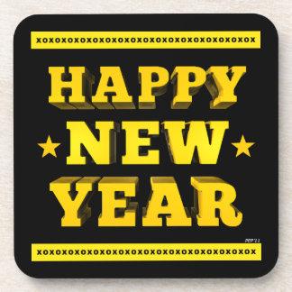 Happy New Year Beverage Coaster
