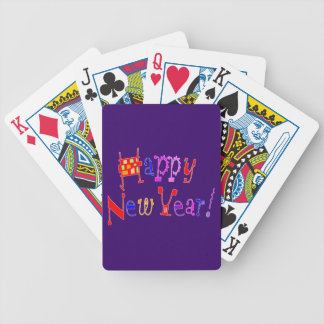 Happy New Year - Bicycle Playing Cards