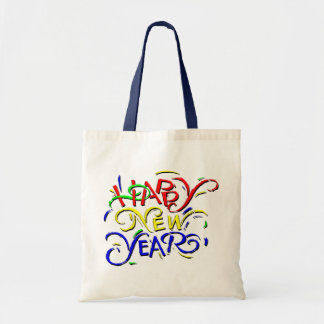 Happy New Year Budget Tote Bag