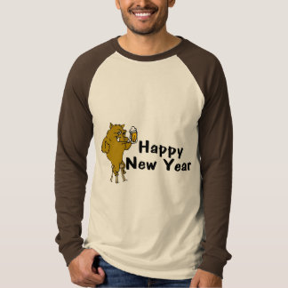 Happy New Year Bull And Beer T-Shirt