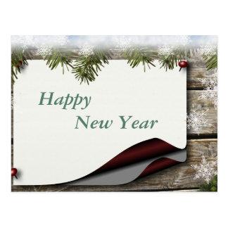 Happy New Year, bulletin message decor Postcard