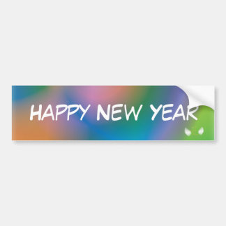Happy New Year Bumper Sticker  - Customize