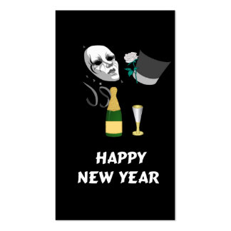 Happy New Year Double-Sided Standard Business Cards (Pack Of 100)