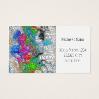 happy new year business card