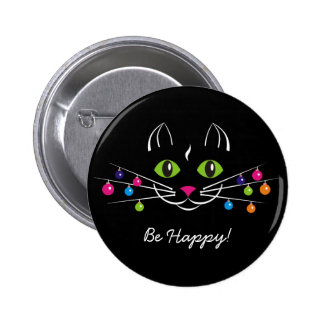 """Happy New Year Button """"Be Happy"""""""