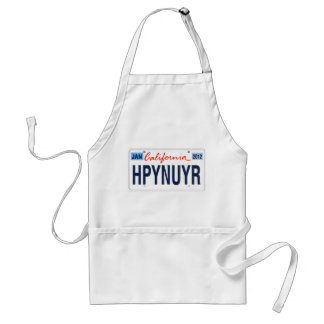 Happy New Year California License Plate 2012 Adult Apron