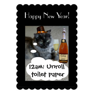 Happy New Year (cat) Invitation by RoseWrites