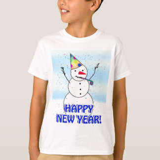 HAPPY NEW YEAR! Celebrating Snowman T-Shirt