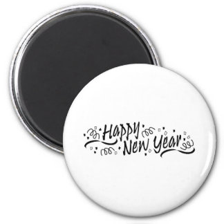 Happy New Year Celebration 2 Inch Round Magnet