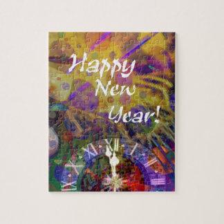 Happy New Year celebration. Jigsaw Puzzle