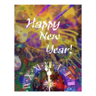 Happy New Year celebration. Letterhead