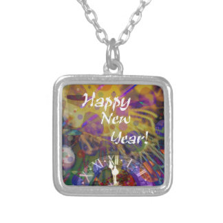Happy New Year celebration Silver Plated Necklace