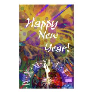 Happy New Year celebration. Stationery