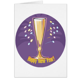 Happy New Year Champagne Card