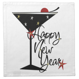 HAPPY NEW YEAR CHAMPAGNE COCKTAIL NAPKINS (4)