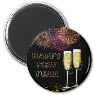 Happy new Year - Champagne Fridge Magnet