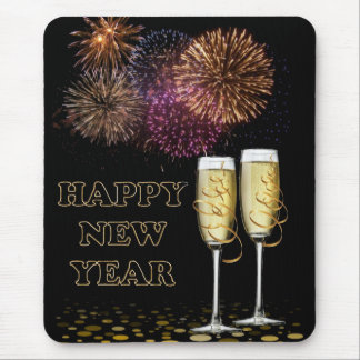 Happy new Year - Champagne Mouse Pad