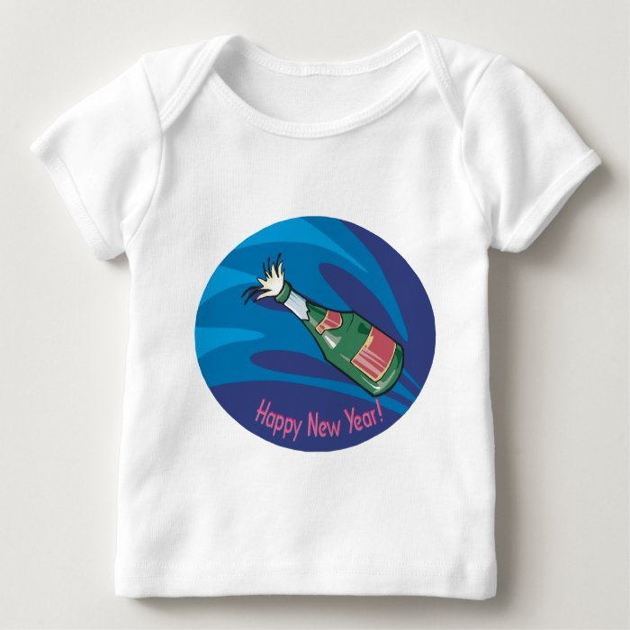 Happy New Year Champagne Pop Baby T-Shirt