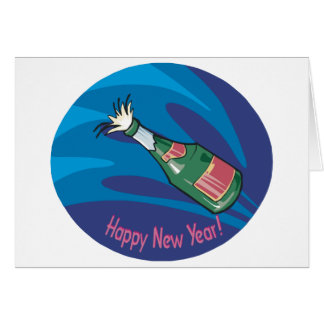 Happy New Year Champagne Pop Card