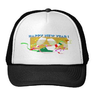 Happy New Year Champagne Trucker Hat