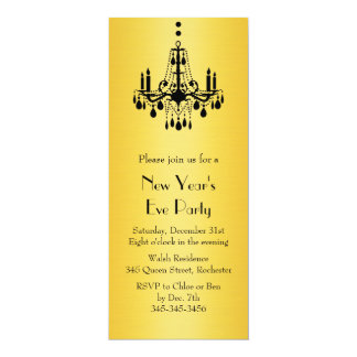 Happy New Year Chandelier Party Invitation