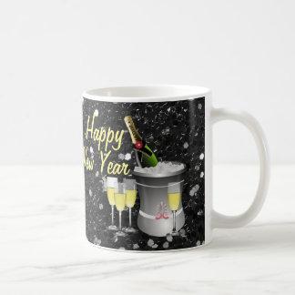 Happy New Year Chilled Champagne Coffee Mug