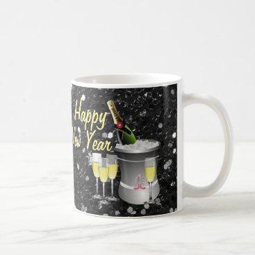 Coffee Themed Happy New Year Chilled Champagne Coffee Mug