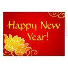 Happy New Year Chinese Greeting Card