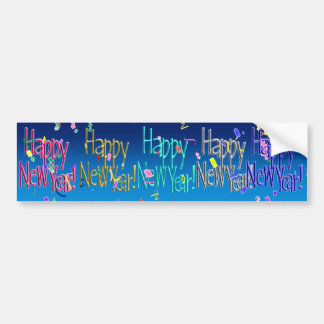 HAPPY NEW YEAR! CHOICES CAR BUMPER STICKER