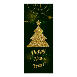 Happy New Year Christmas Green Holiday Poster