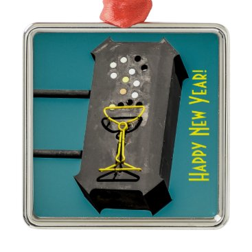 Christmas Themed Happy New Year Christmas Ornament