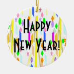 Happy New Year Christmas Ornaments