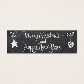 Happy New Year - Christmas Tag