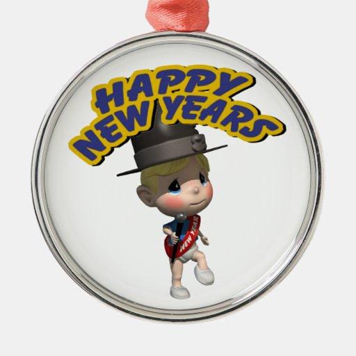 Happy New Year! Christmas Tree Ornament