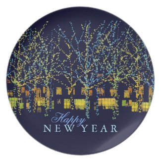 Happy New Year City Lights