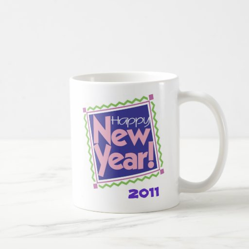 HAPPY NEW YEAR CLASSIC WHITE COFFEE MUG