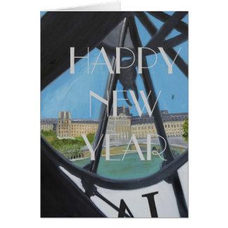 HAPPY NEW YEAR CLOCK:HELLO 2014 CARD