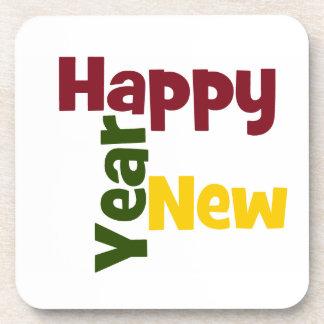 Happy New Year coasters